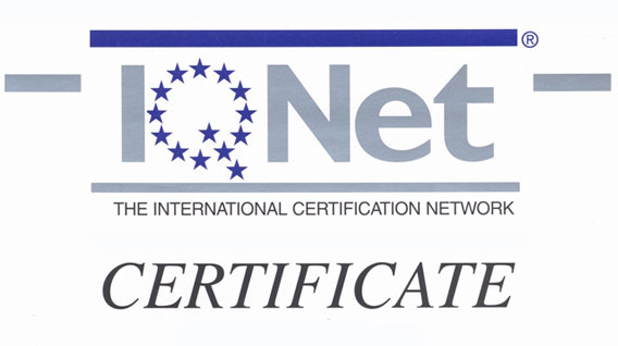 Qualitec Certificate IQNet and Aenor